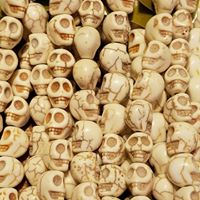 Natural Howlite.Skulls